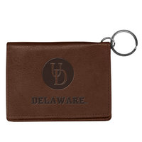 Delaware Blue Hens Carolina Sewn Leather ID Holder