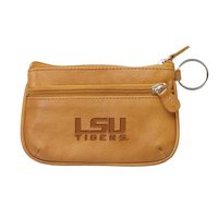 LSU Tigers Leather Coin Case and ID Holder