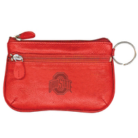 Ohio State Buckeyes Leather Coin Case and ID Holder