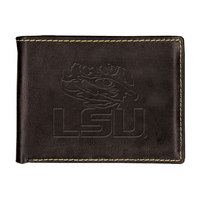LSU Tigers Contrast Stitch Billfold Wallet