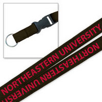 Northeastern Huskies MCM Wov-In Lanyard