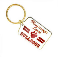 Mississippi State Bulldogs Brass Keychain