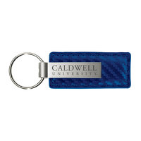 Carbon Fiber Leather & Metal Key Tag