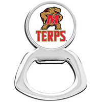 University of Maryland Silver Tone Bottle Opener Keychain