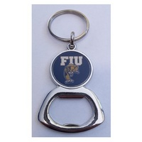 Crystal Coat Round Bottle Opener Keychain