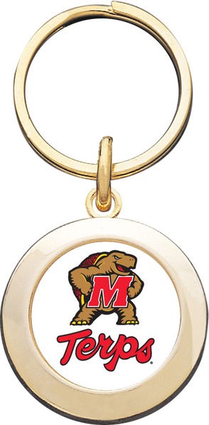 University of Maryland Round Keychain