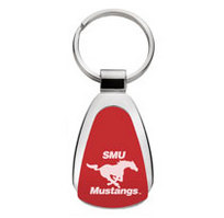 SMU Mustangs Tear Drop Key Tag