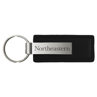 Northeastern Huskies Leather Strip Key Tag