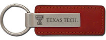 Texas Tech Red Raiders Leather Strip Key Tag