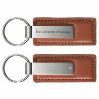 University of Chicago Leather Strip Key Tag