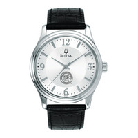 Mens Silver Round Watch