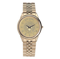 Mens wristwatch with gold rolled link bracelet