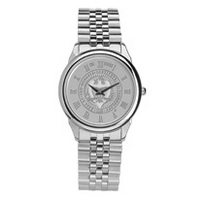 Mens wristwatch with stainless steel rolled link bracelet