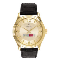 Men Gold Round Watch  Bulova
