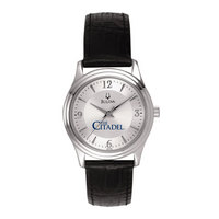 WomenSilverRoundWatch  Bulova