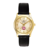 WomenGoldRoundWatch  Bulova