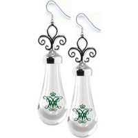 Earrings with Fleur De Lis Top