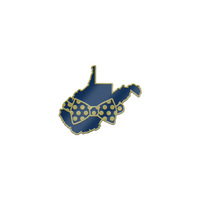 WVU Mountaineers Brass Lapel Pin