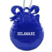 Delaware Blue Hens Bulb Christmas Ornament