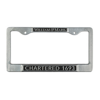 William and Mary License Plate Frame