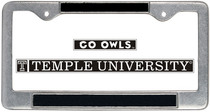 Temple License Plate Frame