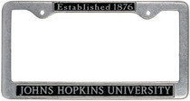 License Plate Hopkins Frame