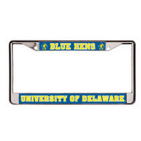 Delaware Blue Hens Chrome License Plate Frame