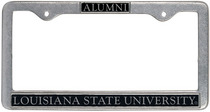 LSU Tigers Alumni License Plate Frame