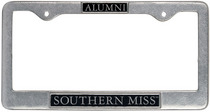 Southern Mississippi Eagles Alumni License Plate Frame