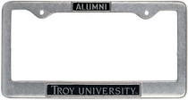 Troy University Alumni License Plate Frame