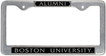 Boston Terriers Alumni License Plate Frame