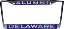 Delaware Blue Hens Laser Magic License Plate Frame