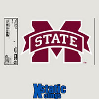 Mississippi State Bulldogs Static Cling Decal