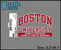 Boston Terriers Static Cling Decal