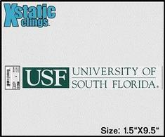 South Florida Bulls Static Cling Decal