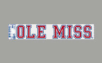 Ole Miss Static Cling Decal