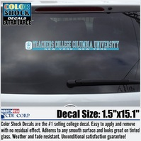 Columbia Lions Color Shock Strip Decal