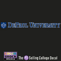 DePaul Color Shock Strip Decal
