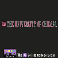 University of Chicago Color Shock Strip Decal