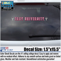 Troy University Color Shock Strip Decal