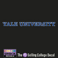 Yale Bulldogs Color Shock Strip Decal