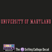 University of Maryland Color Shock Strip Decal