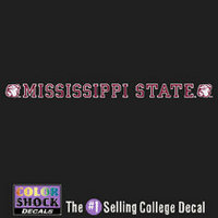 Mississippi State Bulldogs Color Shock Strip Decal
