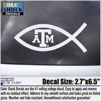 Texas A&M Aggies Color Shock Mascot Decal