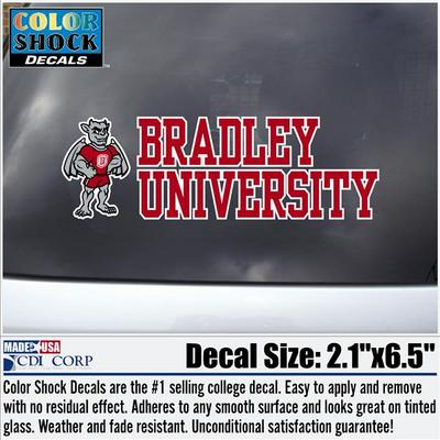 Bradley Gargoyle Color Shock Mascot Decal