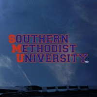 SMU Mustangs Color Shock Wordmark Decal