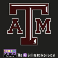 Texas A&M Aggies Color Shock Wordmark Decal