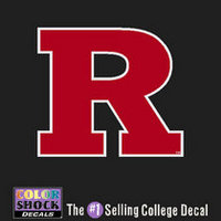 Rutgers Scarlet Knights Color Shock Wordmark Decal