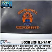 Bucknell Color Shock Seal Decal