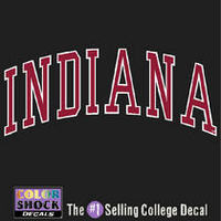 Indiana Hoosiers Color Shock School Name Decal